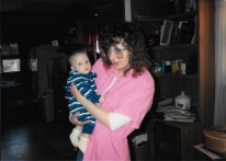 Mom holding cousin, Robby
