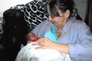 Mom with grandson, Ben